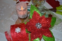ATELIER de NOEL : REALISER un Centre de Table de NOEL POINSETTIA, VIDEO