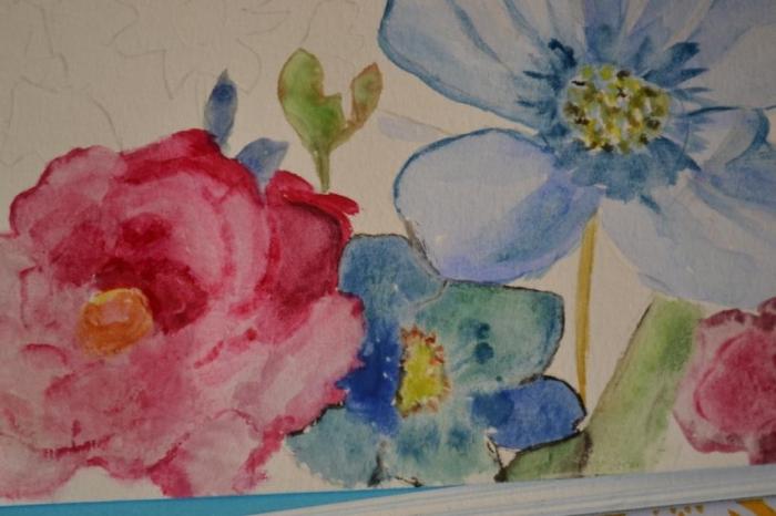 ATELIER  PEINTURE FACILE : Cours de Peinture Aquarelle N° 1 pour Débutants : Inspiration, Fleurs du Jardin  - TUTORIEL