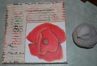 ATELIER TUTO PEINTURE :  Peindre sans Pinceau, Coquelicot sur Parchemin, TUTORIEL