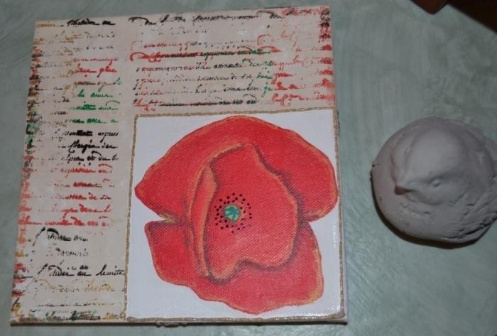 ATELIER PEINTURE FACILE :  Peindre sans Pinceau, Coquelicot sur Parchemin, TUTORIEL