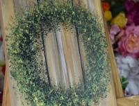 Cours de Peinture N° 2  - Peindre sans Pinceau : Couronne de buis sur fond de planches de bois, tutoriel