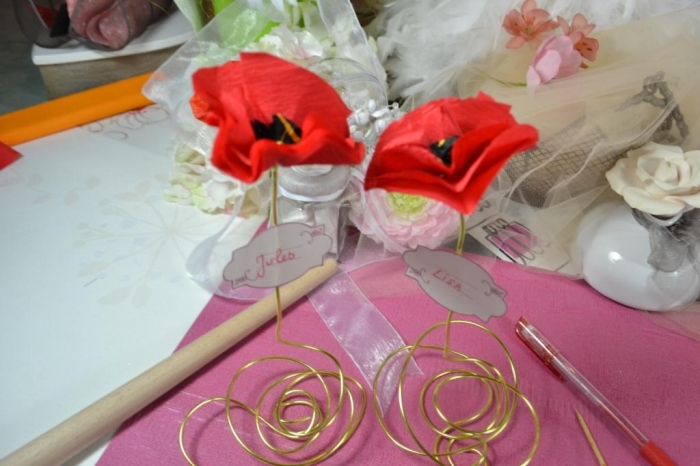 "ATELIER HOME DECO : Des Coquelicots ""PORTE-NOM"", VIDEO"