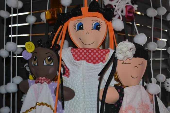 ATELIER BRICOLAGE/HOME DECO/RECYCLAGE : Créer & Transformer une  poupée FOFUCHA en essui-mains