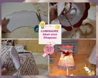 ATELIER HOME DECO - LUMINAIRE : Fabriquer un ABAT JOUR conique, festonné en forme de chapeau, TUTORIEL