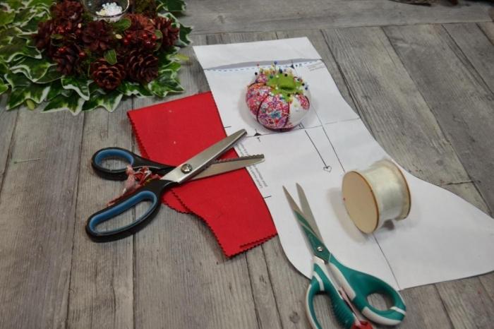 BLOC NOTES : FICHE PRODUITS pour création BOTTE de NOEL Tissu ou feutrine COUTURE facile, TUTORIEL