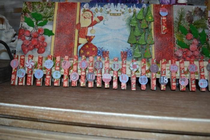 ATELIER de NOEL - FESTIF : TABLEAU  ORIGINAL ou CALENDRIER de l'AVENT , VIDEO