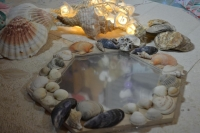 ATELIER  HOME DECO : Customiser un MIROIR inspiration NATURE & COQUILLAGES, TUTORIEL
