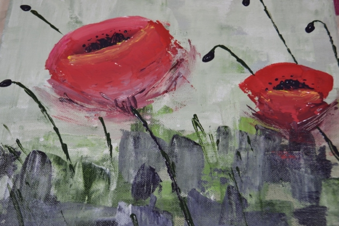 Peindre à l'Acrylique aux couteaux, pour débutants.. VIDEO