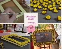 ATELIER MODELAGE : Porcelaine Froide : Fleurs 3D Boutons d'Or, TUTORIEL