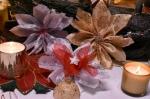 ATELIER de NOEL  - BRICOLAGE FESTIF  : Réaliser des FLEURS de POINSETTIAS en RUBAN pour paquet cadeau, TUTORIEL