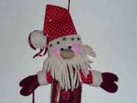 ATELIER DE NOEL - FESTIF - COUTURE FACILE : Coudre un CALENDRIER de l'AVENT en feutrine, Père Noël, TUTORIEL